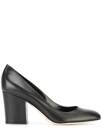 Escarpins en cuir épaisses noirs Sergio Rossi