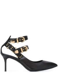 Escarpins en cuir noirs Giuseppe Zanotti Design