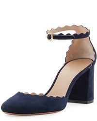 Escarpins en daim bleus marine Chloé
