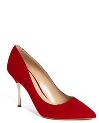 Escarpins en daim rouges