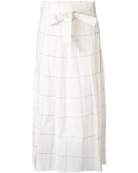 Falda a cuadros blanca de Fabiana Filippi