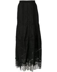 Falda bordada negra de Diesel