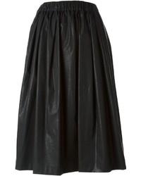 Falda campana de cuero negra de MSGM