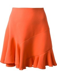 Falda campana de seda naranja de Victoria Beckham