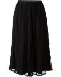 Falda campana de tul negra de RED Valentino