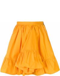Falda campana naranja de MSGM