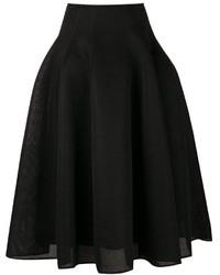 Falda campana negra