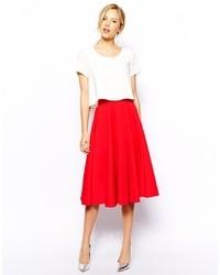 Falda campana roja