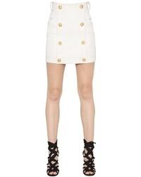 Falda con botones blanca