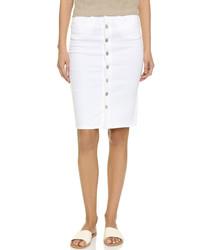 Falda con botones blanca de Blank