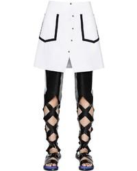 Falda con botones blanca de Kenzo