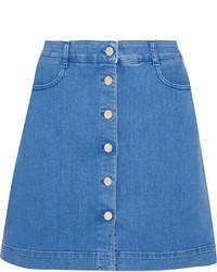 Falda con botones vaquera azul de Stella McCartney
