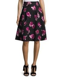 Falda con print de flores negra de Kate Spade