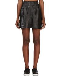 Falda de cuero negra de Kenzo