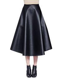 Falda de cuero negra de Lanvin