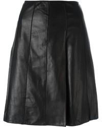 Falda de cuero negra de Marc Jacobs