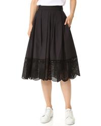Falda de encaje negra de Marc Jacobs
