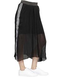 Falda de gasa negra de adidas