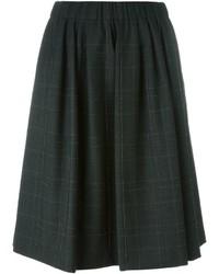 Falda de Lana a Cuadros en Gris Oscuro de Brunello Cucinelli