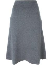 Falda de Lana Gris de Stella McCartney