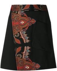 Falda de lana negra de Etro