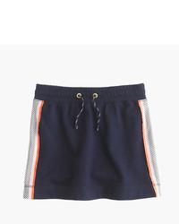 Falda de malla azul marino