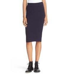 Falda de punto azul marino de DKNY