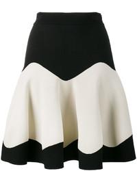Falda de punto negra de Alexander McQueen