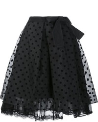 Falda de seda a lunares negra de Marc Jacobs