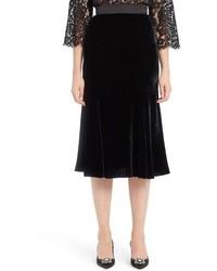 Falda de Terciopelo Negra de Dolce & Gabbana