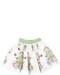 Falda estampada blanca
