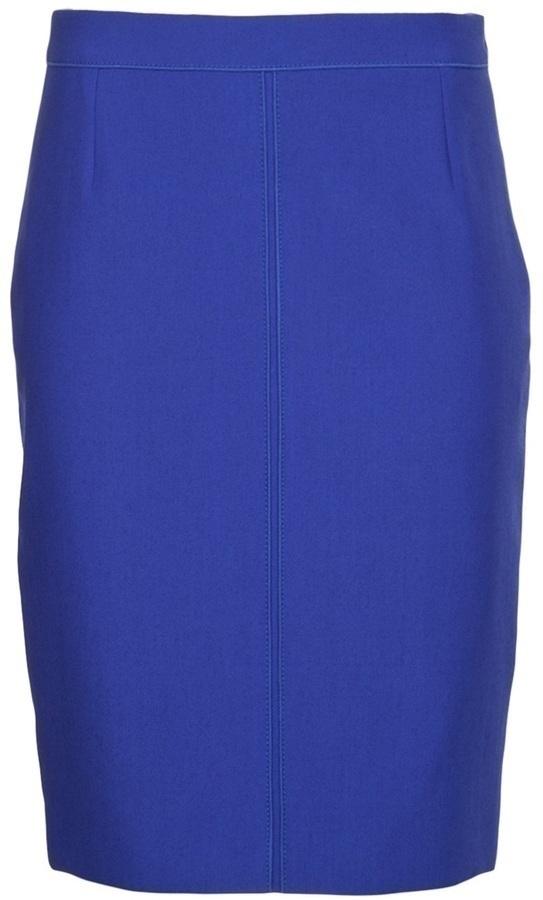 Falda lápiz azul de Proenza Schouler