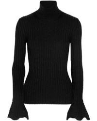 Falda lápiz de lana negra de Lanvin