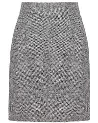 Falda lápiz de tweed gris