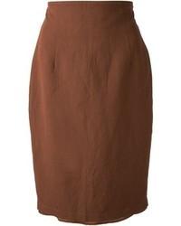 Falda lápiz en marrón oscuro