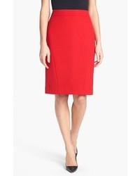 Falda lápiz roja de Classiques Entier