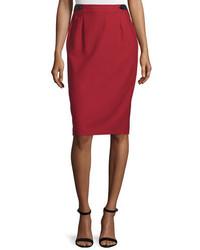 Falda lápiz roja de CNC Costume National