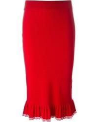 Falda lápiz roja de Marc Jacobs