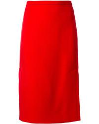 Falda lápiz roja de Marni