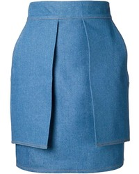 Falda lápiz vaquera azul