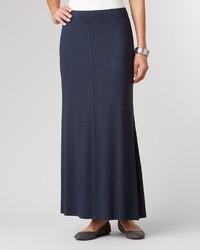 Falda larga azul marino