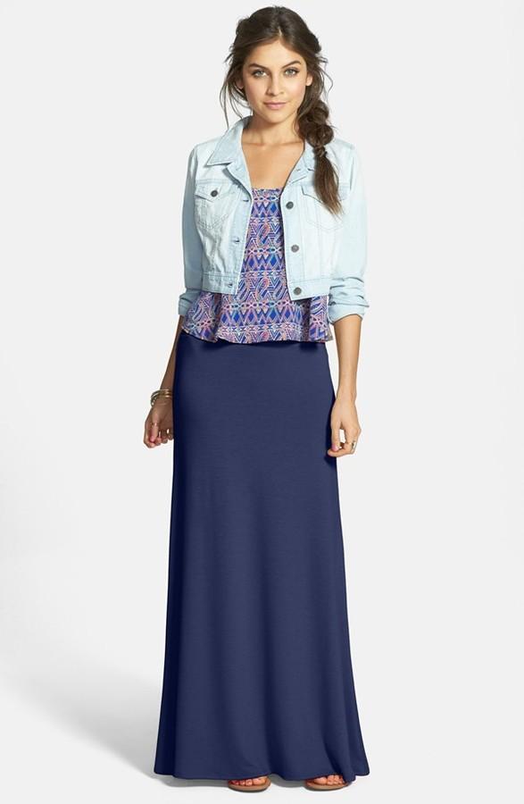 profesional mejor calificado buscar auténtico artesanía exquisita Falda larga azul marino de Lily White