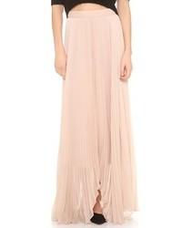 f829381ac Comprar una falda larga de gasa rosada: elegir faldas largas de gasa ...