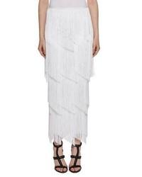 641e3f996 Comprar una falda larga сon flecos blanca  elegir faldas largas сon ...