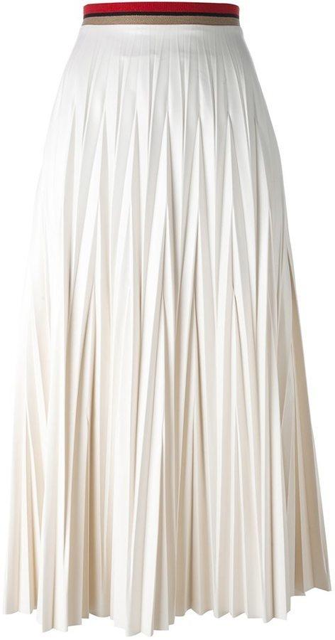 ... Falda larga plisada blanca de Aviu 2ef19f09e3b