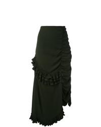 Falda larga verde oscuro de Marni