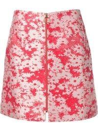 Falda Línea A de Flores Roja de Stella McCartney