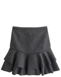 Falda línea a de lana en gris oscuro de J.Crew