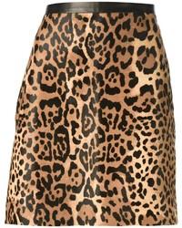 Falda línea a de leopardo marrón de Ralph Lauren