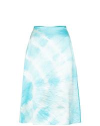 Falda línea a efecto teñido anudado celeste de Ashley Williams